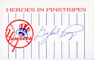 GAYLORD PERRY - PRINTED CARD SIGNED IN INK