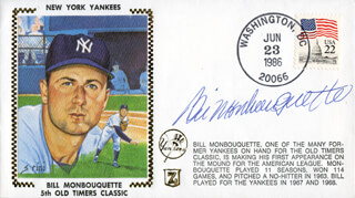 BILL MONBOUQUETTE - COMMEMORATIVE ENVELOPE SIGNED