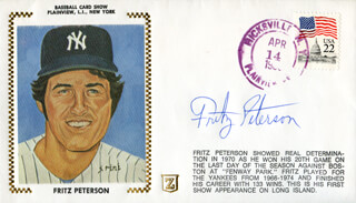 FRITZ PETERSON - COMMEMORATIVE COVER SIGNED