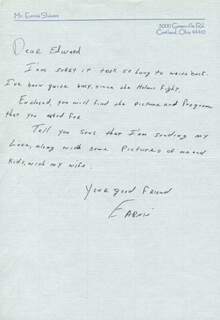 EARNIE SHAVERS - AUTOGRAPH LETTER SIGNED