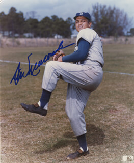 DON NEWK NEWCOMBE - AUTOGRAPHED SIGNED PHOTOGRAPH