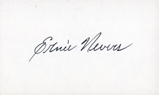 Autographs: ERNIE NEVERS - SIGNATURE(S)