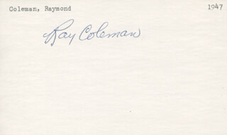 RAY COLEMAN - AUTOGRAPH