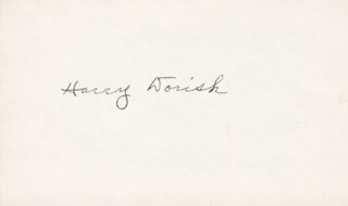 HARRY DORISH - AUTOGRAPH