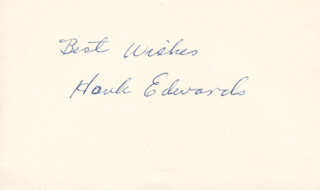 HANK EDWARDS - AUTOGRAPH SENTIMENT SIGNED  - HFSID 283310