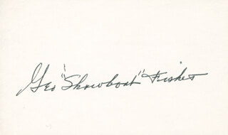 GEORGE SHOWBOAT FISHER - AUTOGRAPH