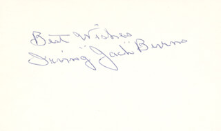 JACK SLUG BURNS - AUTOGRAPH SENTIMENT SIGNED  - HFSID 283355