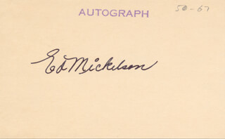 ED MICKELSON - AUTOGRAPH