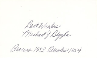 MIKE BLYZKA - AUTOGRAPH SENTIMENT SIGNED  - HFSID 283375