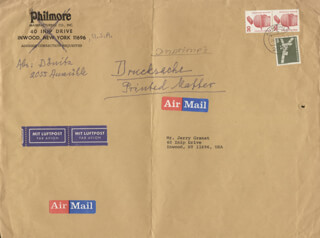 GRAND ADMIRAL KARL DONITZ - AUTOGRAPH ENVELOPE SIGNED 08/26/1978