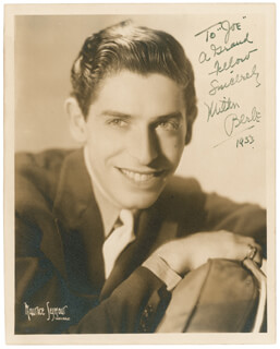 MILTON BERLE - AUTOGRAPHED INSCRIBED PHOTOGRAPH 1933