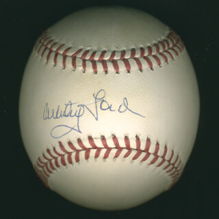 WHITEY FORD - AUTOGRAPHED SIGNED BASEBALL
