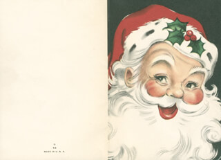 JANET LEIGH - CHRISTMAS / HOLIDAY CARD UNSIGNED CIRCA 1957