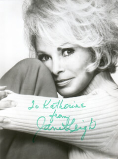 JANET LEIGH - INSCRIBED PHOTOGRAPH SIGNED TWICE