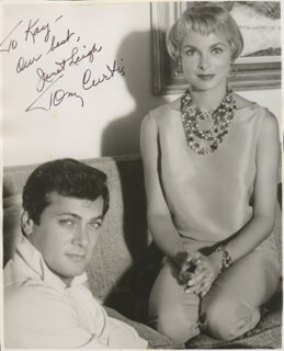 JANET LEIGH - AUTOGRAPHED INSCRIBED PHOTOGRAPH CO-SIGNED BY: TONY CURTIS