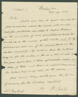 Autographs: WILLIAM EUSTIS - AUTOGRAPH LETTER SIGNED 10/29/1810