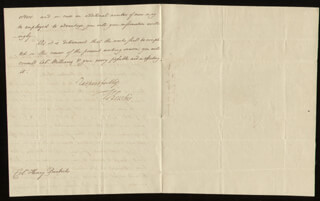Autographs: WILLIAM EUSTIS - AUTOGRAPH LETTER SIGNED 06/12/1810