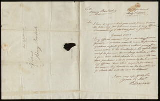 MAJOR GENERAL HENRY DEARBORN - AUTOGRAPH LETTER SIGNED 07/01/1800