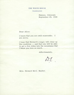 PRESIDENT DWIGHT D. EISENHOWER - TYPED LETTER SIGNED 03/18/1955