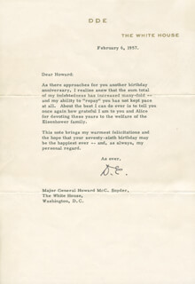 PRESIDENT DWIGHT D. EISENHOWER - TYPED LETTER SIGNED 03/18/1954