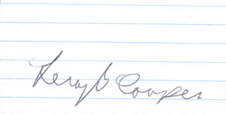 COLONEL GORDON COOPER JR. - AUTOGRAPH