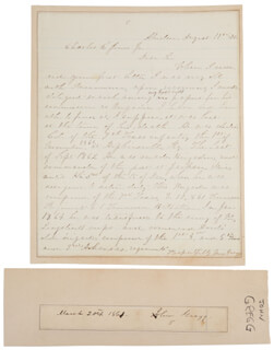 Autographs: BRIGADIER GENERAL JOHN GREGG - SIGNATURE(S) 03/20/1861 CO-SIGNED BY: MARY FRANCIS GREGG