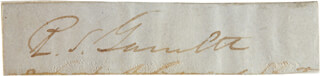 Autographs: BRIGADIER GENERAL ROBERT SELDON GARNETT - CLIPPED SIGNATURE