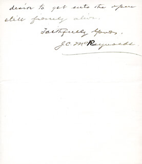 ASSOCIATE JUSTICE JAMES C. MCREYNOLDS - AUTOGRAPH LETTER SIGNED