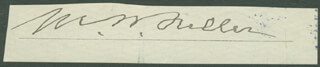 Autographs: CHIEF JUSTICE MELVILLE W. FULLER - SIGNATURE(S)