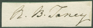 CHIEF JUSTICE ROGER B. TANEY - AUTOGRAPH