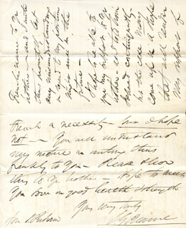 Autographs: JAMES G. BLAINE - AUTOGRAPH LETTER SIGNED 11/13/1867