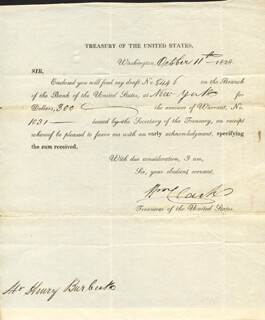 Autographs: WILLIAM CLARK - DOCUMENT SIGNED 10/11/1828