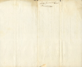 WILLIAM CLARK - DOCUMENT UNSIGNED 03/27/1829