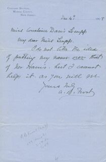 A.B. FROST - AUTOGRAPH LETTER SIGNED 12/04/1905
