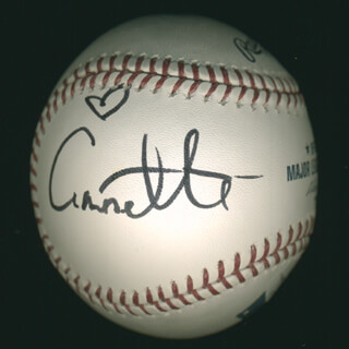 ANNETTE FUNICELLO - AUTOGRAPHED SIGNED BASEBALL