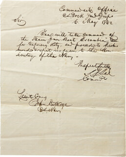 LT. GENERAL STEPHEN DILL LEE - AUTOGRAPH LETTER SIGNED 05/06/1862