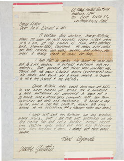 WOODY GUTHRIE - AUTOGRAPH LETTER SIGNED