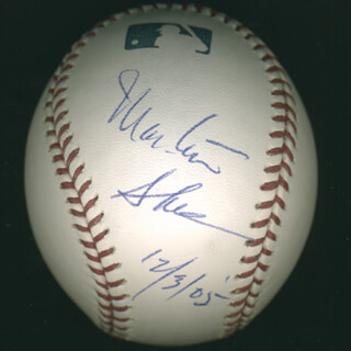 Autographs: MARTIN SHEEN - BASEBALL SIGNED 12/03/2005