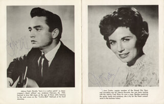 JOHNNY CASH - PROGRAM SIGNED CO-SIGNED BY: JUNE CARTER CASH, SONNY GRUBBS, KERMIT RICHMOND