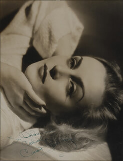 CAROLE LOMBARD - AUTOGRAPHED INSCRIBED PHOTOGRAPH