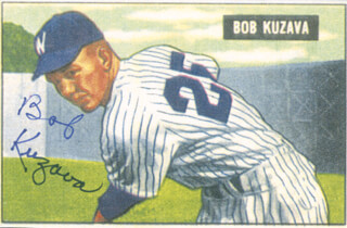 Autographs: BOB KUZAVA - PRINTED ART SIGNED IN INK