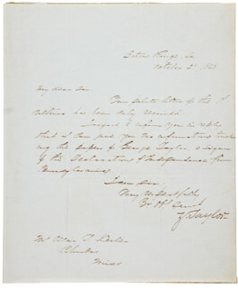 PRESIDENT ZACHARY TAYLOR - AUTOGRAPH LETTER SIGNED 10/02/1848