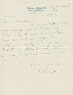 CHIEF JUSTICE HARLAN F. STONE - AUTOGRAPH LETTER SIGNED 07/18