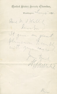 Autographs: MAJOR GENERAL AMBROSE E. BURNSIDE - AUTOGRAPH LETTER SIGNED 01/16/1880