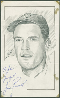 JOHN RAITT - INSCRIBED ORIGINAL ART SIGNED CO-SIGNED BY: JIMMY PIERSALL