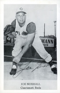 JOE NUXHALL - AUTOGRAPHED SIGNED PHOTOGRAPH