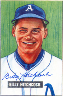Autographs: BILLY HITCHCOCK - ILLUSTRATION SIGNED