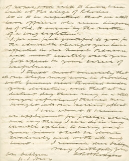 REAR ADMIRAL CHRISTOPHER RODGERS - AUTOGRAPH LETTER SIGNED 12/12/1857