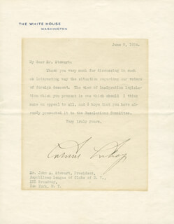 PRESIDENT CALVIN COOLIDGE - TYPED LETTER SIGNED 06/09/1924
