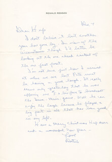 PRESIDENT RONALD REAGAN - AUTOGRAPH LETTER SIGNED 12/07/1975